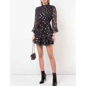 SALONI Marissa Sequin Patch Mini 3/4 Sleeve Dress